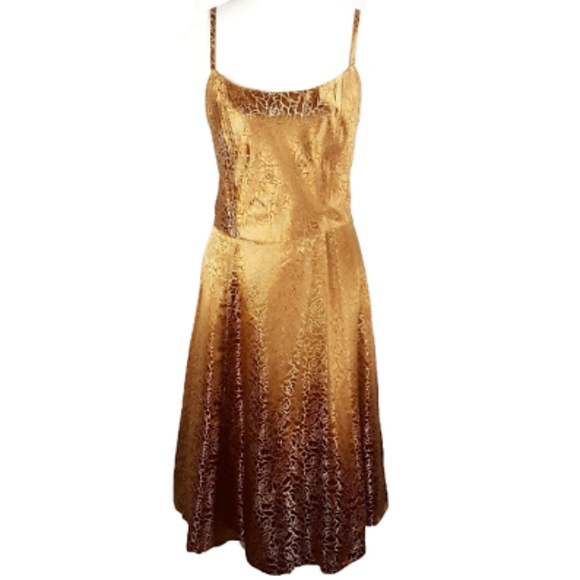 26cb3eb23eca4 Lane Bryant Women s Fit   Flare Dress Gold. M 5ae3298c3b16088329f08289